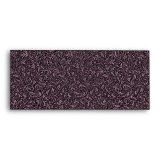 Plum Filigree Envelope - 10