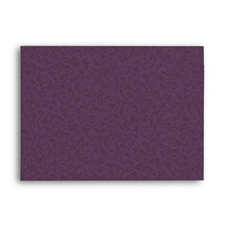 Plum Filigree Envelope - A7 Greeting Card