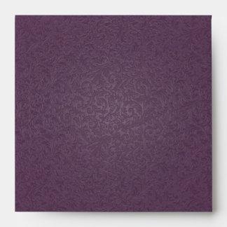 Plum Filigree Envelope (Square)