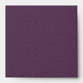 Plum Filigree Envelope-Square Envelope