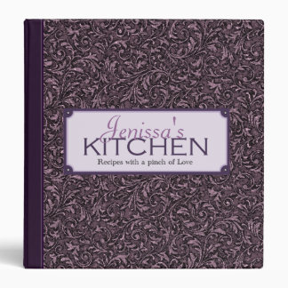 Plum Filigree Recipe Binder