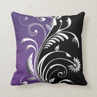 Plum Floral American MoJo Pillow