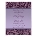 "Plum Floral Save the Date Announcement 4.25"" x 5.5"