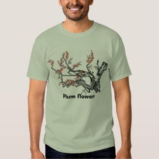 Plum flower002,  tee shirt