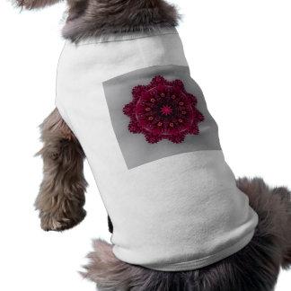 Plum Flower  Doggie Ribbed Tank Top Pet Tee
