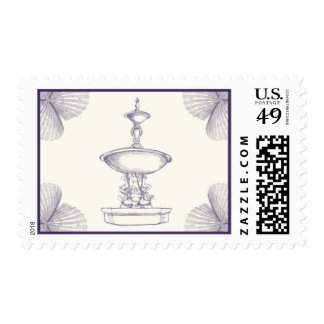 Plum Fountain by Ceci New York Postage Stamp