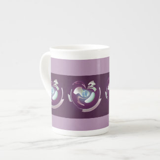 Plum Fruit Bone China Mug Tea Cup