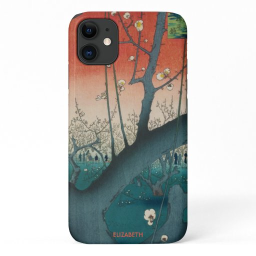 Plum Garden by Hiroshige Art iPhone 11 Case
