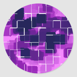 """Plum"" Geometric Art Classic Round Sticker"