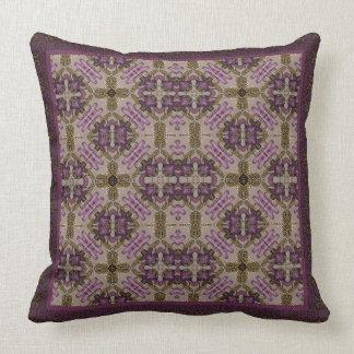Plum Geometric Throw Pillow