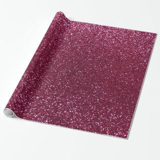 Plum glitter gift wrap