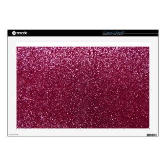 Plum glitter laptop decal