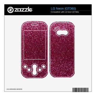 Plum glitter decal for the LG neon