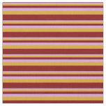 [ Thumbnail: Plum, Goldenrod, and Maroon Colored Pattern Fabric ]