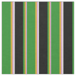 [ Thumbnail: Plum, Goldenrod, Forest Green, Black & White Fabric ]
