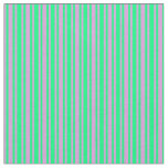[ Thumbnail: Plum & Green Colored Lines/Stripes Pattern Fabric ]
