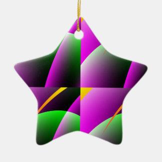 Plum_Green star ornament
