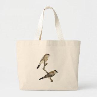 Plum-headed Finch Pair - Neochmia modesta Canvas Bags