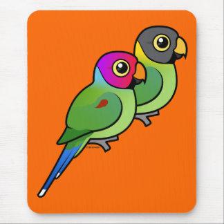 Plum-headed Parakeet Pair Mouse Pad