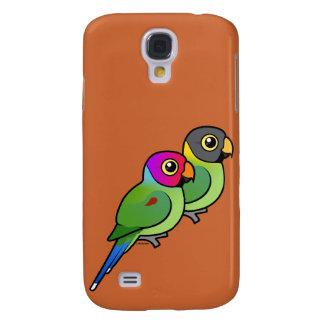Plum-headed Parakeet Pair Samsung Galaxy S4 Case