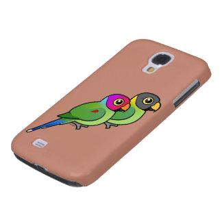 Plum-headed Parakeet Pair Samsung S4 Case