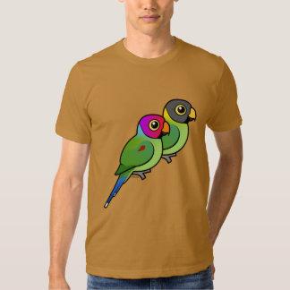 Plum-headed Parakeet Pair Tee Shirt