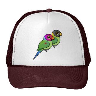 Plum-headed Parakeet Pair Trucker Hat