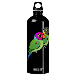 Plum-headed Parakeet Pair Water Bottle