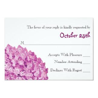 Plum Hydrangea Wedding RSVP Response Card