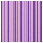 [ Thumbnail: Plum & Indigo Striped Pattern Fabric ]