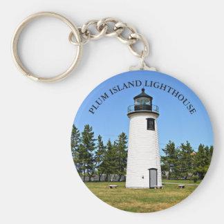Plum Island Lighthouse, MA Keychain