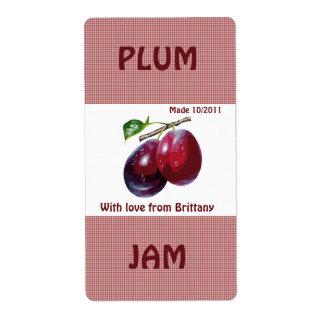 Plum Jam Jar Label (Customize)