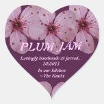 Plum Jam Jar Label (Personalize) Stickers