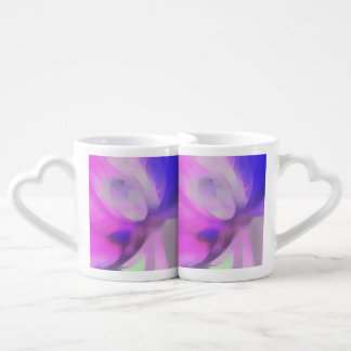 Plum Juices Pastel Abstract Couples Coffee Mug