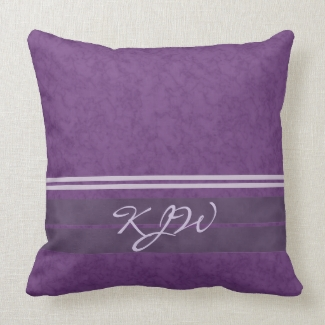 Plum Lavender Stripes Monogram