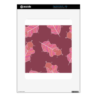 plum leaves iPad decal