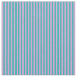 [ Thumbnail: Plum & Light Sea Green Colored Pattern of Stripes Fabric ]