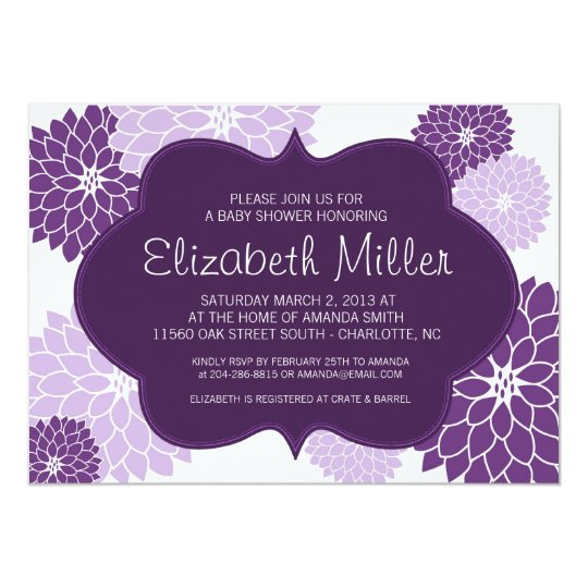Baby Showers On Saturday Or Sunday ~ Plum lilac purple bridal or baby shower invite zazzle