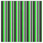 [ Thumbnail: Plum, Lime, and Black Stripes Fabric ]