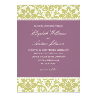 PLUM & LIME DAMASK | WEDDING INVITATION