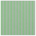 [ Thumbnail: Plum & Lime Green Colored Pattern Fabric ]