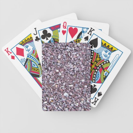 Plum limestone slate bicycle playing cards