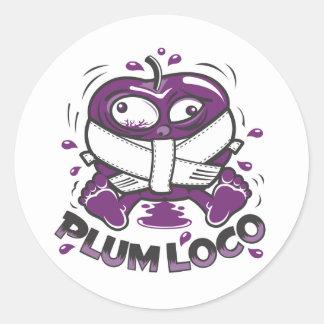 Plum Loco Design Classic Round Sticker