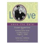 Plum Love Wedding Save the Date Announcement Postcard