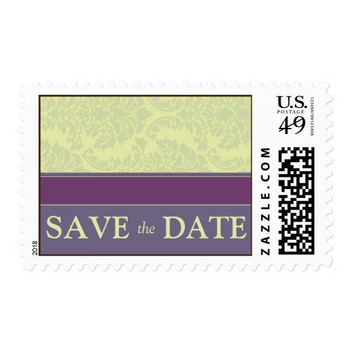 Plum Love Wedding Save the Date Postage