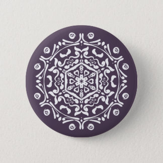 Plum Mandala Button