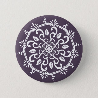 Plum Mandala Pinback Button