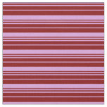 [ Thumbnail: Plum & Maroon Colored Lined/Striped Pattern Fabric ]