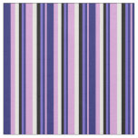 [ Thumbnail: Plum, Midnight Blue, Slate Blue, Black & White Fabric ]