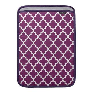Plum Moroccan Pattern MacBook Air Sleeves